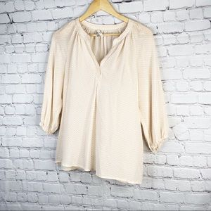 Joie | Dusty Pink and Sand Addie B Blouse